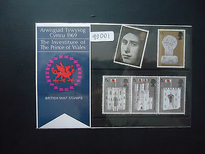 Great Britain 1969 Presentation Pack No11 Prince Of Wales Investiture MNH(90001)