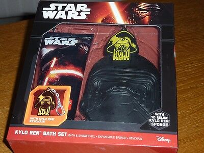 Kylo Ren Star Wars Bath Gift Set Bath & Shower Gel Expandable Sponge & Keychain