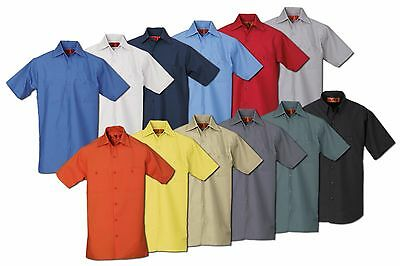 REED Industrial Uniform Work Shirts Two Front Pockets Short Sleeve