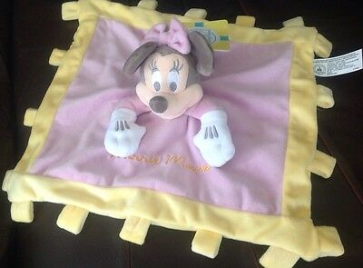 Disney Parks Soft Minnie mouse Comforter Soother Blankie NWT