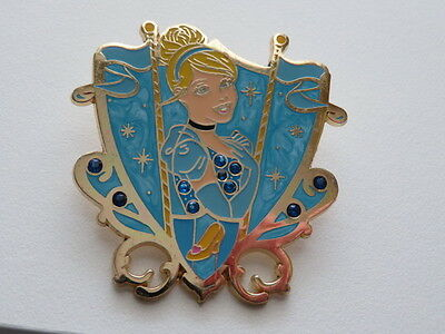 Princess Jeweled Crest Cinderella Disney Pin