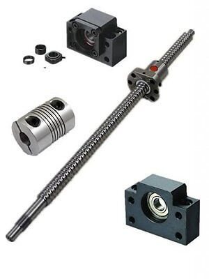 Ten-high Ballscrews 1605-980mm-C7 with Nuts+bk/bf12 End Supports+1pcs 6.35*10mm