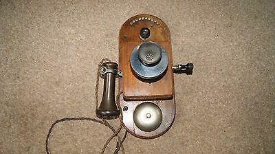 Antique Wall Mounted Early Telephone