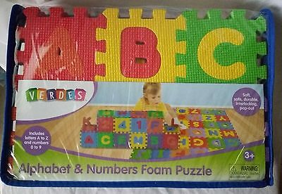 New Kids Verdes Alphabet & Number Foam Puzzles Ages 3 And Up