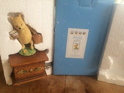 Classic Winnie The Pooh Musical Box Stand 2003 Rare Boxed