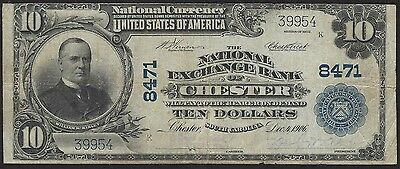 $10 1902ND National Exchange Bank of Chester SC Charter 8471