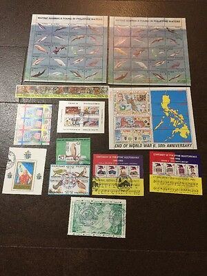 Philippines Souvenir / Block Stamp Collection Lot - CV ~$170 USD - Must See!!
