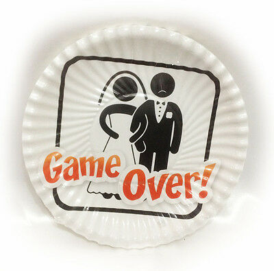 Piatti Matrimonio Sposi Game Over 8pz