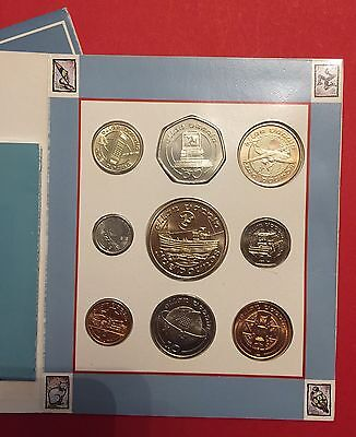 UNC 1991 ISLE OF MAN  Set COIN Including £2 & £5 Very Rare Jet & Ship