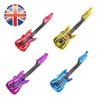 *UK Seller* LARGE 80cm Inflatable Air Guitar Foil Helium Balloon Blow Up Party