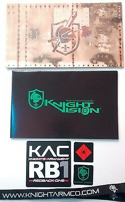 Knights Armament catalog, poster, stickers, lanyard 2017 SHOT Show NRA