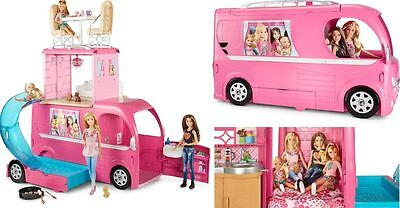 NEW Barbie Pop-Up Camper Playset Classic Girls Toy Fun Doll FREE SHIPPING