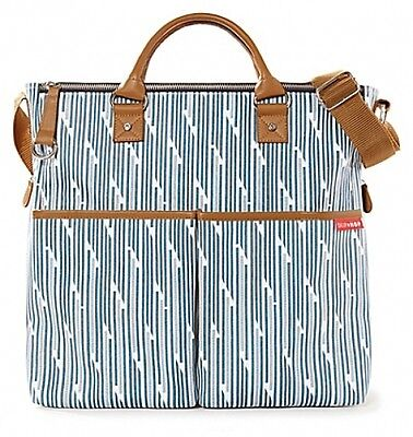 New Skip Hop Duo Special Edition Baby Changing Diaper Bag with Blueprint Stripe