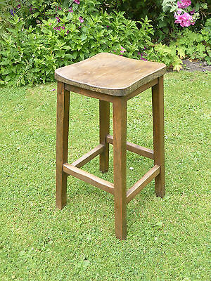 Vintage Lab Stool. Beech + Elm. Original condition.