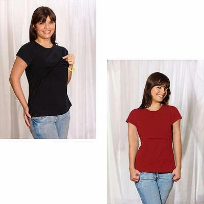 Emma Jane 833 Nursing Top - Red or Black