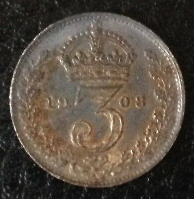 1908 Threepence Silver Coin