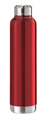 Oggi Sommelier Double Wall Vacuum Sealed Wine Carrier, Red, 25 oz 8089.2