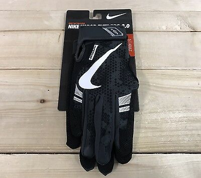 Nike Vapor Elite Pro 3.0 Baseball Batting Gloves Black White SZ S ( GB0410-012 )