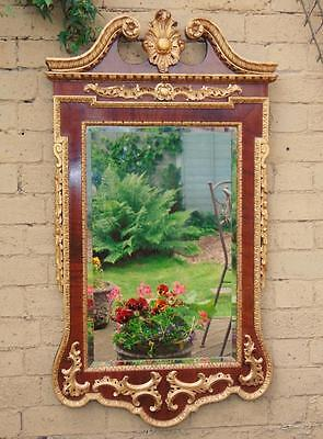 Imposing George I Style Parcel Gilt Mahogany Pier Glass Mirror