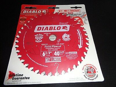 "Diablo D0641X 6 1/2"" 40 Tooth Circular Saw Finish / Plywood Blade fits DCS391"
