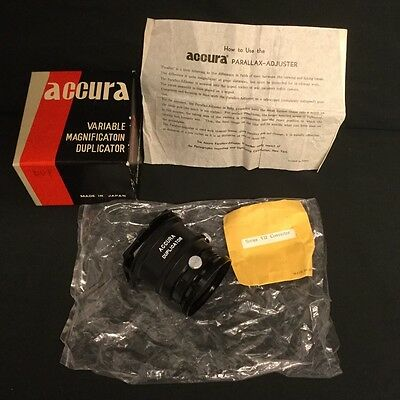 Accura Variable Magnification Slide Duplicator In Original Box