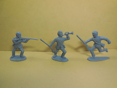 CHARBENS American Civil War ACW Foot Soldiers Vintage Plastic Toy Soldiers 1:32