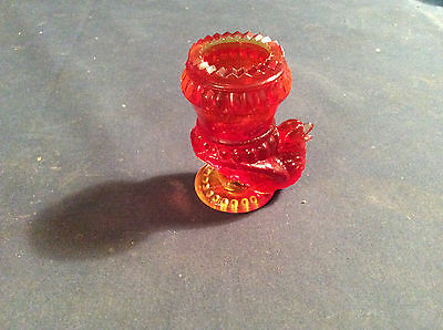Degenhart Turkery Red Stovepipe Toothpick Holder