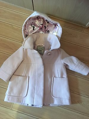 Baby Girl Pale Pink Coat From Next 3-6 Months