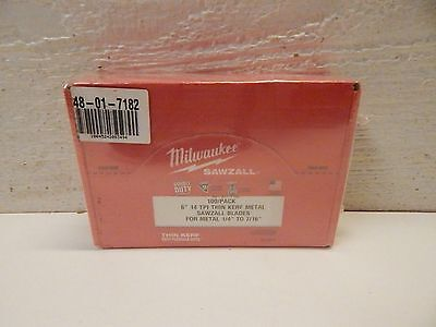"100 pack 6"" 14 TPI Milwaukee Metal Sawzall Blades 48-01-7182 Double Duty"