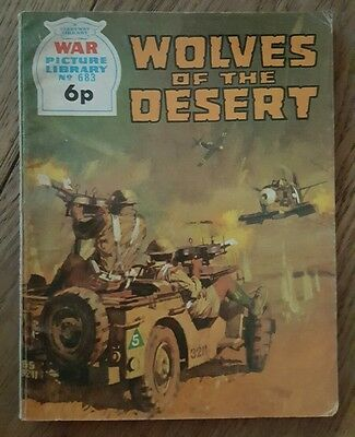 Fleetway Battle Picture Library No.683 Wolves of the Desert 1971