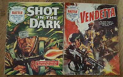 Pair of  Vintage Battle Picture Library Comics (1966/1969)