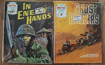 Pair of  Vintage Battle Picture Library Comics (1970)