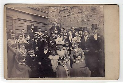 Cabinet photograph of a Wedding Group by W B Jones of Hawarden (C28606)