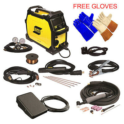 ESAB Rebel EMP 215ic MIG/Stick/Tig Welding Machine with Foot Control 0558102240