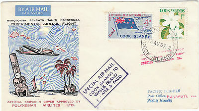 Cook Islands Rarotonga Wall Island Experimental Flight Ellis IsPilot signed