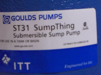 ST31A1 - Goulds Water Technology SumpThing Submersible Sewage Pump