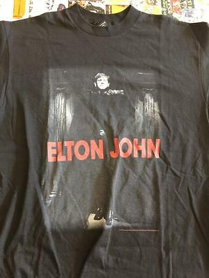 ELTON JOHN black potrait Vintage Tour T-Shirt Men Women Large