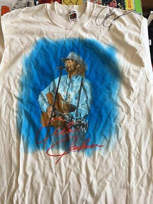 ALAN JACKSON signed Vintage Tour T-Shirt Men Women X-Large autograph