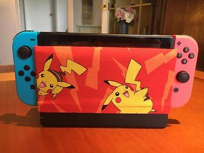 Nintendo Switch Dock Sock Cover Protector - Pokemon Pikachu Red