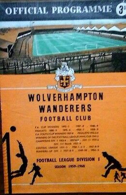 Wolves V Red Star 24/11/1959 European Cup