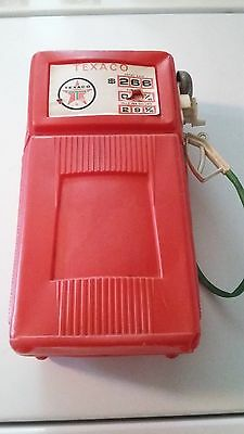 Vintage Texaco Plastic Gas Pump Bank, works