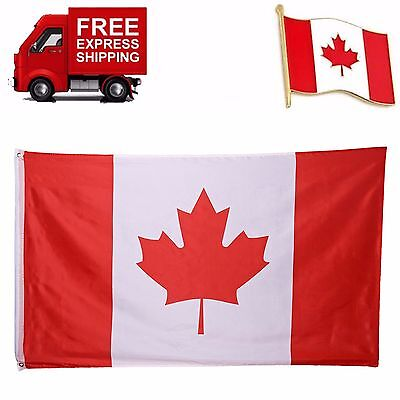 3x5 Foot Polyester Canadian Maple Leaf Flag Canadian Day