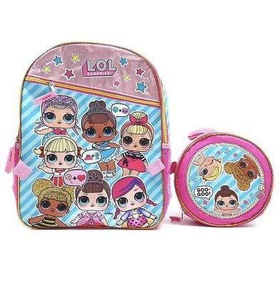 LOL Surprise Backpack With Matching Lunch Box Combo Set