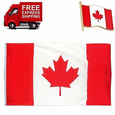 Canadian Flag Maple Leaf Banner Giant Size 60 x 36 inch Canadian Day