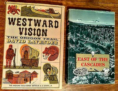 Westward Vision - The Oregon Trail 1963 First Edition David Lavender - lot of 2