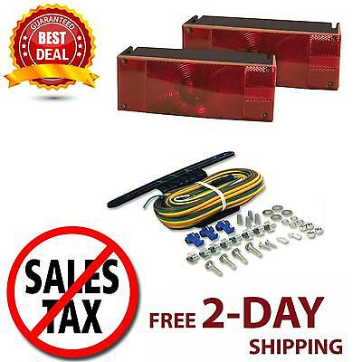 Light Submersible Truck Trailer Red Mount Stop Turn Tail Low Profile Boat Water