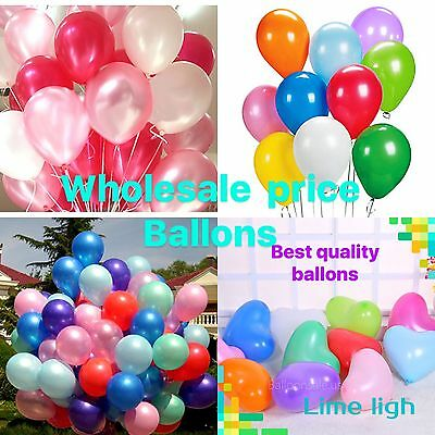100 LARGE PLAIN BALONS BALLONS helium BALLOONSBirthday Wedding Party ballon