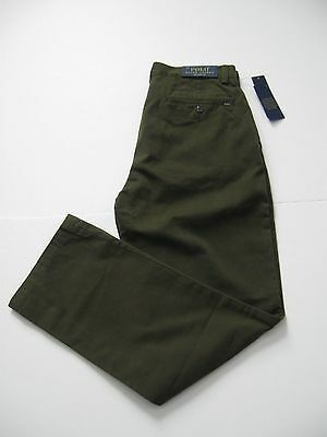 Polo Ralph Lauren Men's Relaxed-Fit Flat Front Chino Pants Olive 38x34