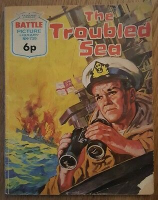 Fleetway Battle Picture Library No.739 The Troubled Sea 1973