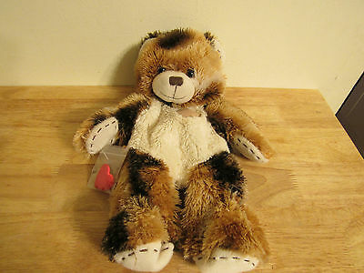 build a bear unstuffed brown bear with patch and heart 16'' 2013